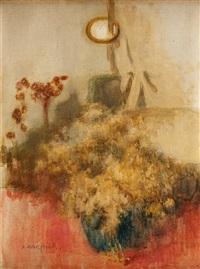 martwa natura z kwiatami by alfons karpinski