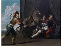 the donkey and the lapdog by simon de vos