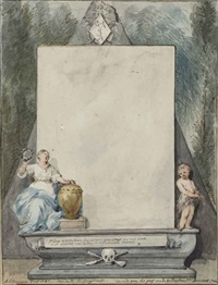 design for a funerary monument by aert schouman