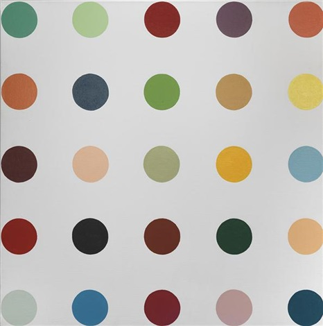 untitled 2 spot painting by damien hirst