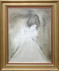jeune femme assise by bernard charoy
