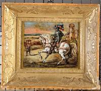 cavallo e cavaliere by giorgio de chirico