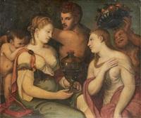 allégorie conjugale by titian (tiziano vecelli)