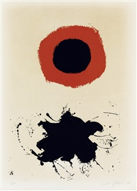 red halo--white ground by adolph gottlieb