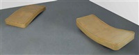 untitled (concave and convex beds) (in 2 parts) by rachel whiteread