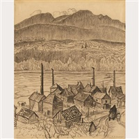 indian village - hazelton, b.c. by alexander young jackson