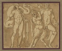 divinità fluviali e un satiro by alessandro di cristofano allori