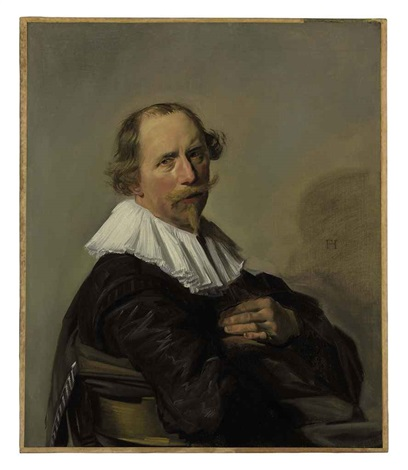 portrait of a gentleman in a black coat by frans hals the elder