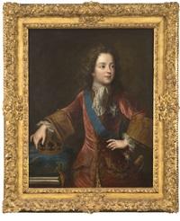 portrait de louis xv by pierre gobert