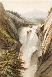 cascade de la handeck by alexandre calame