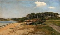 fjord scene from denmark by janus andreas barthotin la cour