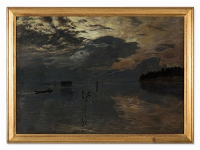 twilight on the water by isaak levitan