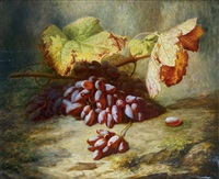 nature morte aux raisins by simon saint-jean
