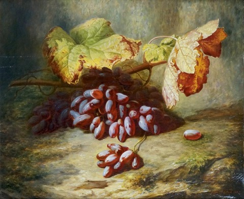 nature morte aux raisins by simon saint jean