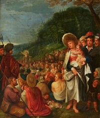 saint john the baptist preaching by frans francken the younger