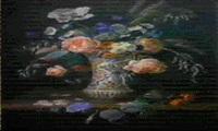 vaso di ceramica con fiori by audibert
