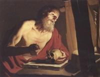 saint jérôme by trophîme (theophisme) bigot the elder