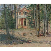 house in virginia (castle hill) by theodore robinson