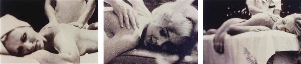 untitled (massage) (triptych) by richard prince