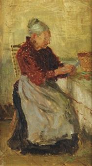 femme dans un intérieur by nikolai avenirovich shabunin