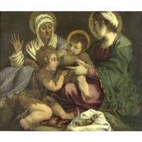 the holy family with st. john the baptist and st. anne by andrea boscoli