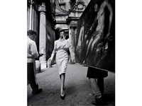 simone + painting + coffee, rome (vogue) by william klein