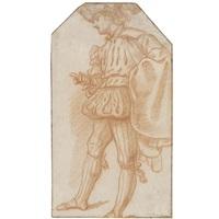 cavaliere con cappello piumato visto di profilo by lazzaro tavarone