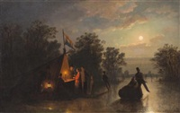 skating by moonlight by johann mongels culverhouse