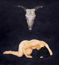 nude and bull head by xue yanqun