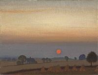 sunset by sir george clausen