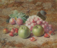 fruit 2 apples and strawberries by charles archer