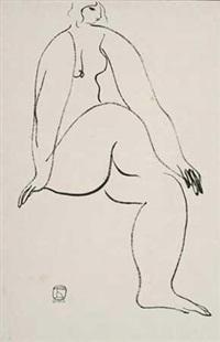 裸女素描 by sanyu