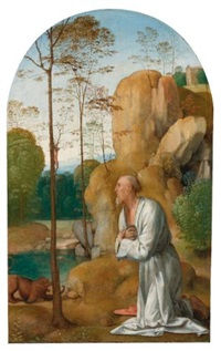 saint jerome in the wilderness by fra bartolommeo