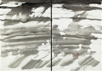abstract (diptych) by t'ang haywen