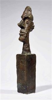 tête sur socle (dite tête sans crâne) by alberto giacometti
