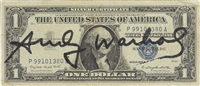 one dollar washington by andy warhol