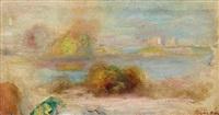 esquisse de paysage, antibes by pierre-auguste renoir