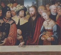 christ and the adultress by johann (hans) kemmer