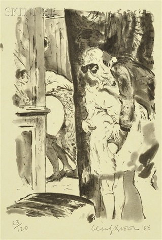 paranoia man in cheap shit room by cecily brown