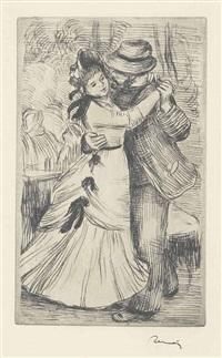 la danse à la campagne, 2eme planche by pierre-auguste renoir