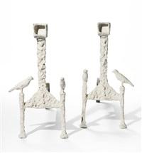 chenets aux oiseaux (blanc) by diego giacometti