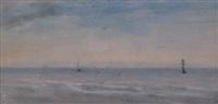voiliers dans la brume by alfred stevens