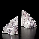 pair of bookends (+ four drawings; 6 works) by jackson pollock