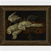 pheasants (on a table with plums) by jan fyt
