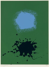blues on green by adolph gottlieb