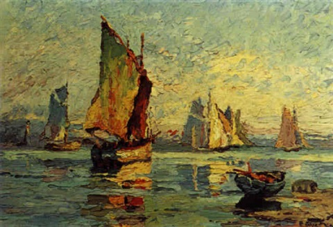 1932 - Eva Stuart-Watt : Sailing Boats at Howth
