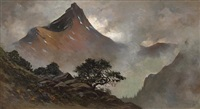mountain landscape by jules tavernier