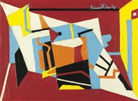 study for hot still-scape by stuart davis
