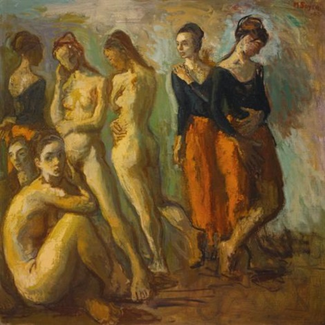 seven dancers by moses soyer