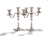 candelabra/candlesticks (pair) by c.j. vander ltd